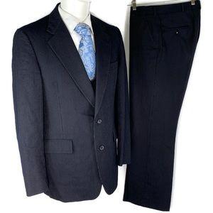 Hart Schaffner & Marx Silver Trumpeter suit